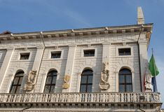 The building that houses the Town Hall of Padua located in Veneto (Italy) Stock Photography