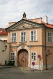 Building on Hradcany square (Hradcany square (Hradcanske namesti) in Prague Stock Image
