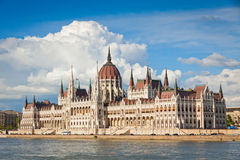 Building of the Hungarian National Parliament in Budapest Stock Image
