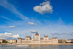 Building of the Hungarian National Parliament in Budapest Royalty Free Stock Image
