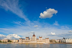 Building of the Hungarian National Parliament in Budapest Royalty Free Stock Photo