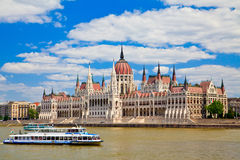 Building Of Hungarian Parliament Royalty Free Stock Image