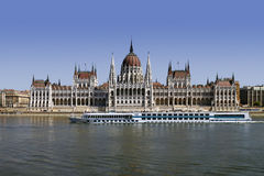 Building of Hungarian Parliament in Budapest Stock Photos