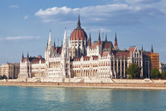 Building of the Hungarian parliament in Budapest Stock Photography