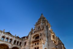 Building Hungarian Parliament House of Budapest popular tourist destination in Budapest. Building Hungarian Parliament House of Country of Budapest popular stock image