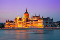 Building of the Hungarian parliament Royalty Free Stock Photo