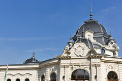 Building of ice rink and boating lake in Budapest, Hungary Stock Photos