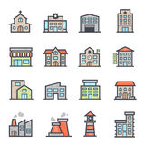 Building Icon Bold Stroke with Color Royalty Free Stock Image