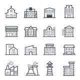 Building Icon Bold Stroke Stock Photography