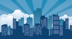 Building,icon and city Stock Image