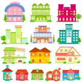 Building Icon Collection Stock Photos
