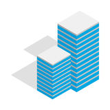 Building icon, isometric 3d style. Building icon in isometric 3d style isolated on white background Royalty Free Stock Image