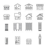 Building icon.line vector Stock Images