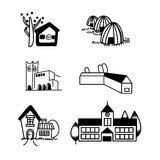 Building icon set Royalty Free Stock Photos
