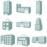 Building Icon Set Royalty Free Stock Photo