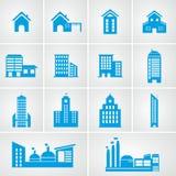 Building icon set Royalty Free Stock Photos