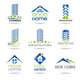 Building icon set. Housing, nature, house, chalet, real estate, hotel, residence, a set of icons that can be used in areas such as tower Royalty Free Stock Photos