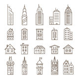 Building icon set Stock Photography