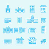 Building icon set.line vector Royalty Free Stock Photography