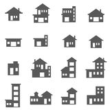 Building Icon Set Stock Images
