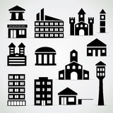 Building icon set Stock Photo