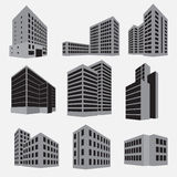 Building icon set.  Vector illustration Royalty Free Stock Photo