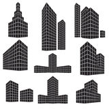 Building icon set.  Vector illustration Stock Image