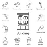 Building icon. Simple element illustration. Building symbol design from Construction collection set. Can be used for web and mobil royalty free illustration