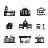 Building icon Royalty Free Stock Photo