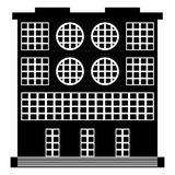 The building icon on white Royalty Free Stock Photography
