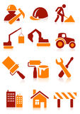 Building icons Royalty Free Stock Photo