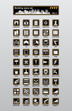 Building icons. Vector building and reconstruction icons set Royalty Free Stock Photos