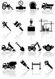 Building icons. Set of black building icons, illustration Royalty Free Stock Photo