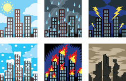 Building icons Stock Images