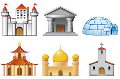 Building icons Stock Photos