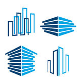 Building icons Stock Photography