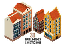 Building icons 3d vector Stock Images