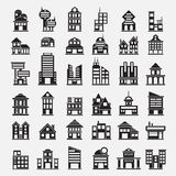 36 Building icons. For design Royalty Free Stock Image