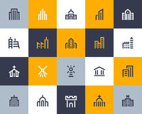 Building icons. Flat style Stock Photo