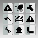 Building icons 2 Stock Image