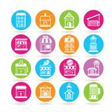 Building icons Stock Photo