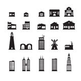 Building icons set. Set of building icons Stock Photography