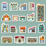 Building Icons set royalty free illustration