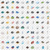 100 building icons set, isometric 3d style. 100 building icons set in isometric 3d style for any design vector illustration Vector Illustration