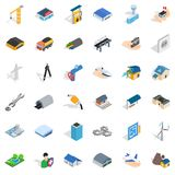 Building icons set, isometric style Stock Photos
