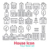 Building icons set. Stock Images