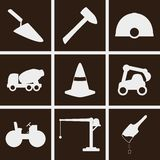 Building Icons. Set of icons on a theme building Stock Photography