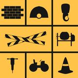 Building Icons. Set of icons on a theme building Stock Photos