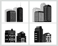 Building icons set. Vector illustration.  Royalty Free Stock Photo