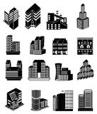 Building Icons Set stock photography